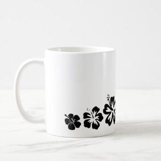 Variety of Flowers Black Design Mug