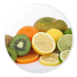 VARIETY OF FRUIT CERAMIC KNOB