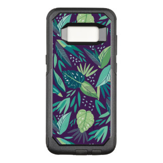 Variety Of Green Tropical Leafs Pattern OtterBox Commuter Samsung Galaxy S8 Case