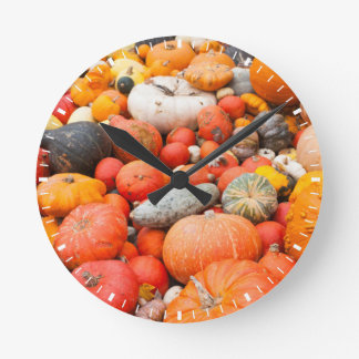 Variety of squash for sale, Germany Round Clock