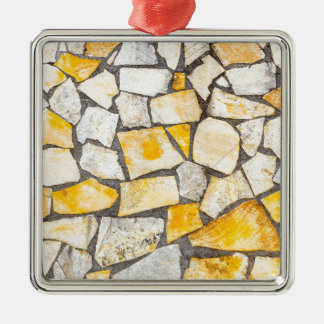 Variety of stones brickwork or masonry Silver-Colored square decoration