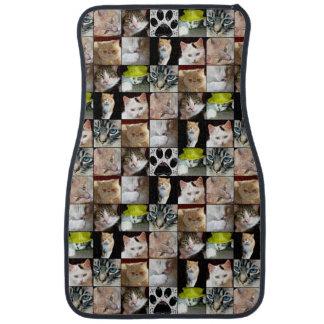 Various Cat Faces Collage Car Mat