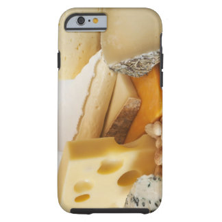 Various cheeses on chopping board tough iPhone 6 case