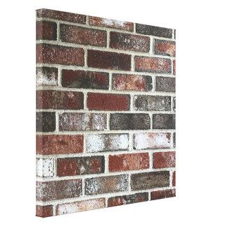 various color brick wall pattern canvas print