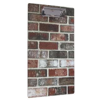 various color brick wall pattern clipboard