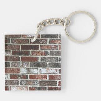 various color brick wall pattern key ring