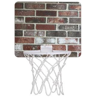 various color brick wall pattern mini basketball hoop