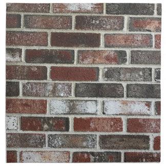 various color brick wall pattern napkin