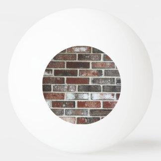 various color brick wall pattern ping pong ball