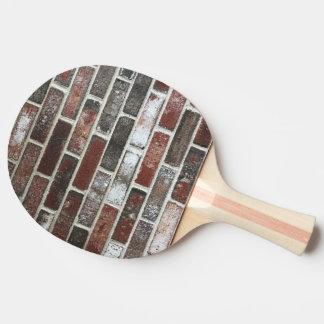 various color brick wall pattern ping pong paddle