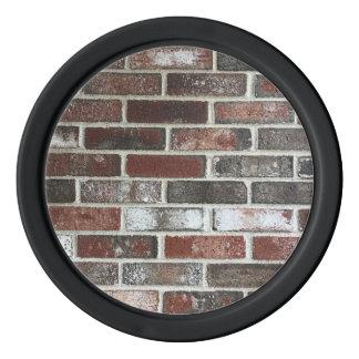 various color brick wall pattern poker chips