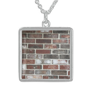 various color brick wall pattern sterling silver necklace