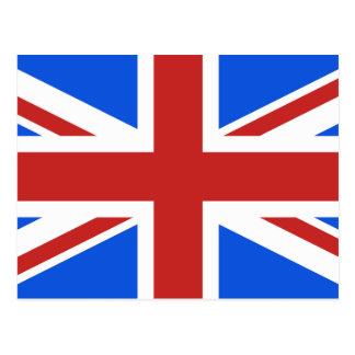 Various Color Union Jack Postcard