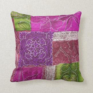 Various Colored Fabrics Throw Pillow