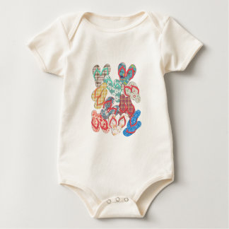 Various colorful flip flops! baby bodysuit