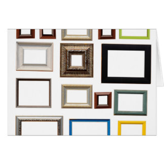 Various Colorful Picture Frames Greeting Card