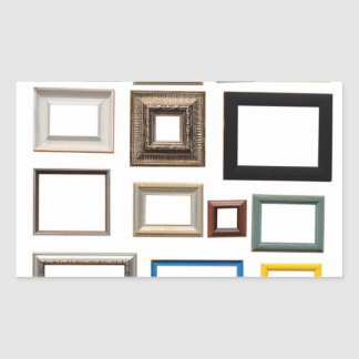 Various Colorful Picture Frames Rectangular Sticker