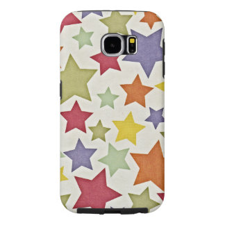 Various Colorful Stars Pattern Samsung Galaxy S6 Cases
