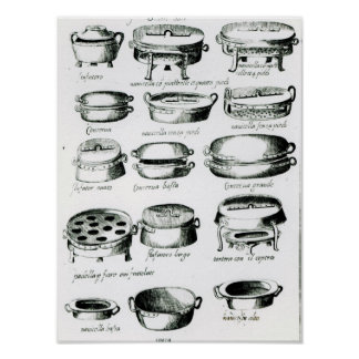 Various Cooking Vessels, 1570 Poster