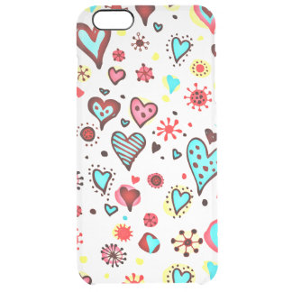 Various Cute Hearts Pattern Clear iPhone 6 Plus Case