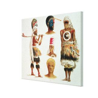 Various Dancing Costumes Worn at Nakello, Fiji Gallery Wrap Canvas