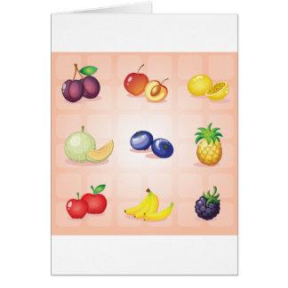 Various Fruits Greeting Cards