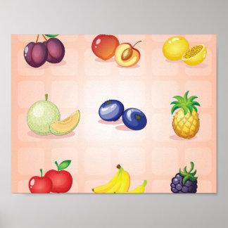 Various Fruits Poster