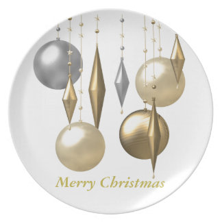 various hanging Christmas bauble Plate