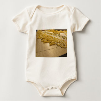 Various mix of fresh italian homemade pasta baby bodysuit