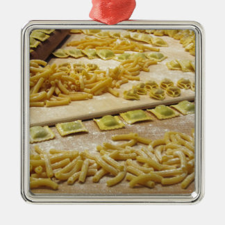 Various mix of fresh italian homemade pasta metal ornament