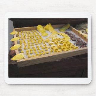 Various mix of fresh italian homemade pasta mouse pad