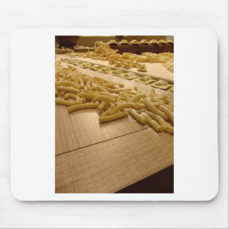 Various mix of fresh italian homemade pasta mouse pad