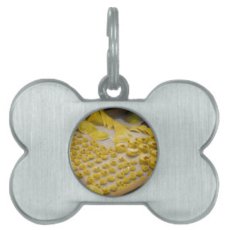 Various mix of fresh italian homemade pasta pet ID tags