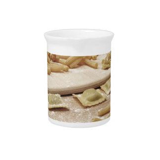 Various mix of fresh italian homemade pasta pitcher