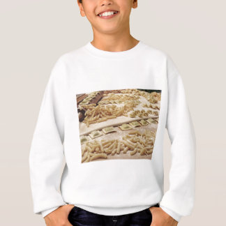 Various mix of fresh italian homemade pasta sweatshirt