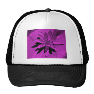 VARIOUS MULTI-COLORED LOTUS FLOWERS TRUCKER HATS