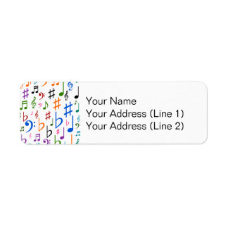Various Musical Notes and Symbols Return Address Label