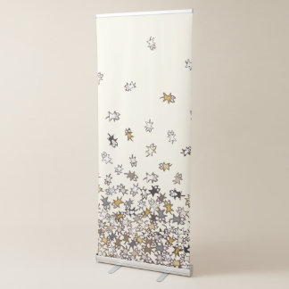 Various pattern Lots of cats Beige Retractable Banner