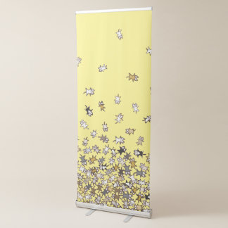 Various pattern Lots of cats Yellow Retractable Banner