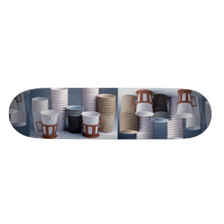 Various plastic drinking cups Photo Skate Deck