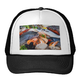 Various Seafood Mesh Hats