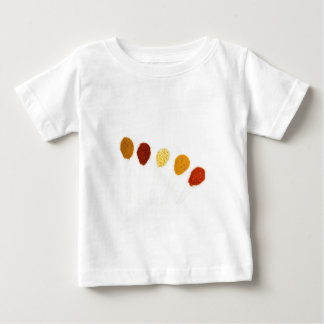 Various seasoning spices on porcelain spoons baby T-Shirt