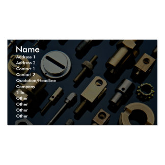 Various small nuts, bolts and screws pack of standard business cards