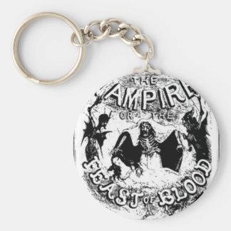 Varney vampire basic round button key ring