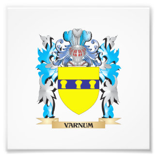 Varnum Coat of Arms - Family Crest Photograph