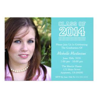 Varsity Class Of 2014 Graduation Baby Blue Invite