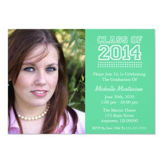 Varsity Class Of 2014 Graduation (Mint Green) Cards