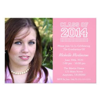 Varsity Class Of 2014 Graduation Pink Card