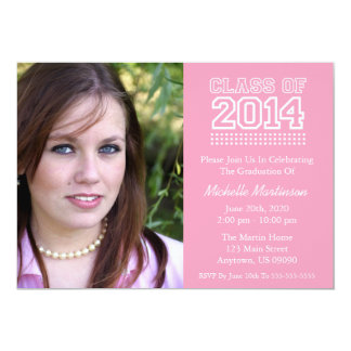 Varsity Class Of 2014 Graduation (Pink) Card