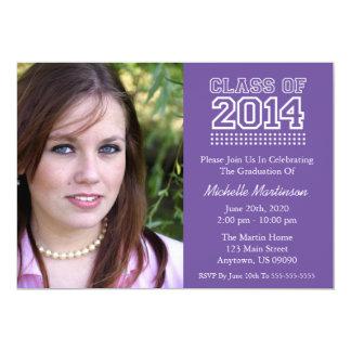 Varsity Class Of 2014 Graduation (Plum Purple) Invitations